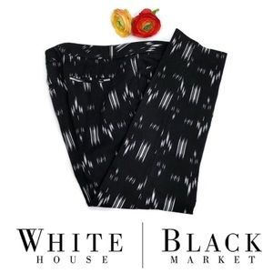 White House Black Market Pattered Slim Ankle Pants
